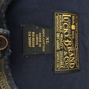 Lucky Brand Shirts - Lucky Brand Mens XL Henley Shirt Blue Pink Green